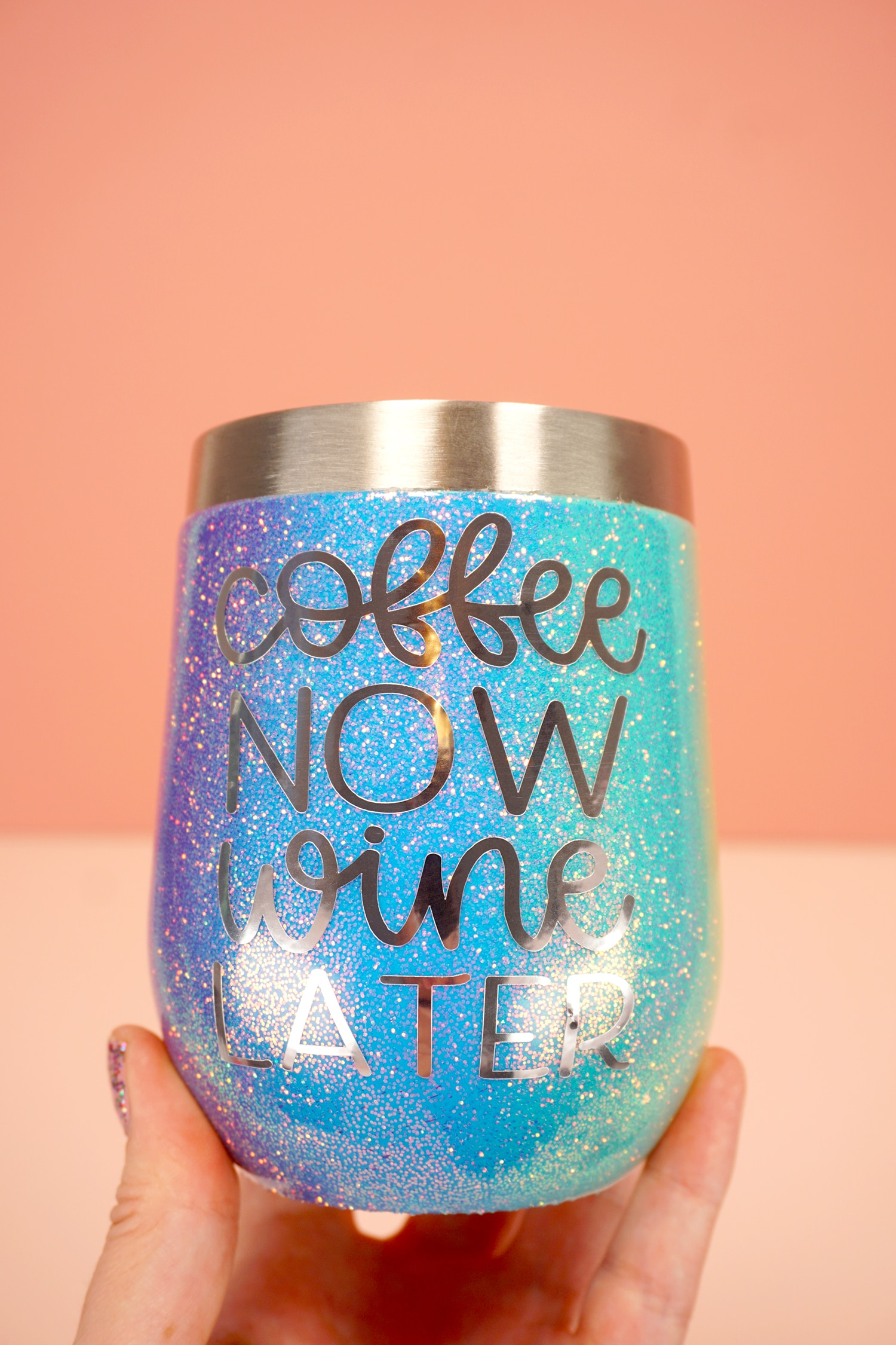 Rainbow Glitter Tumblers With Cricut Explore Air 2 Happiness Is Homemade