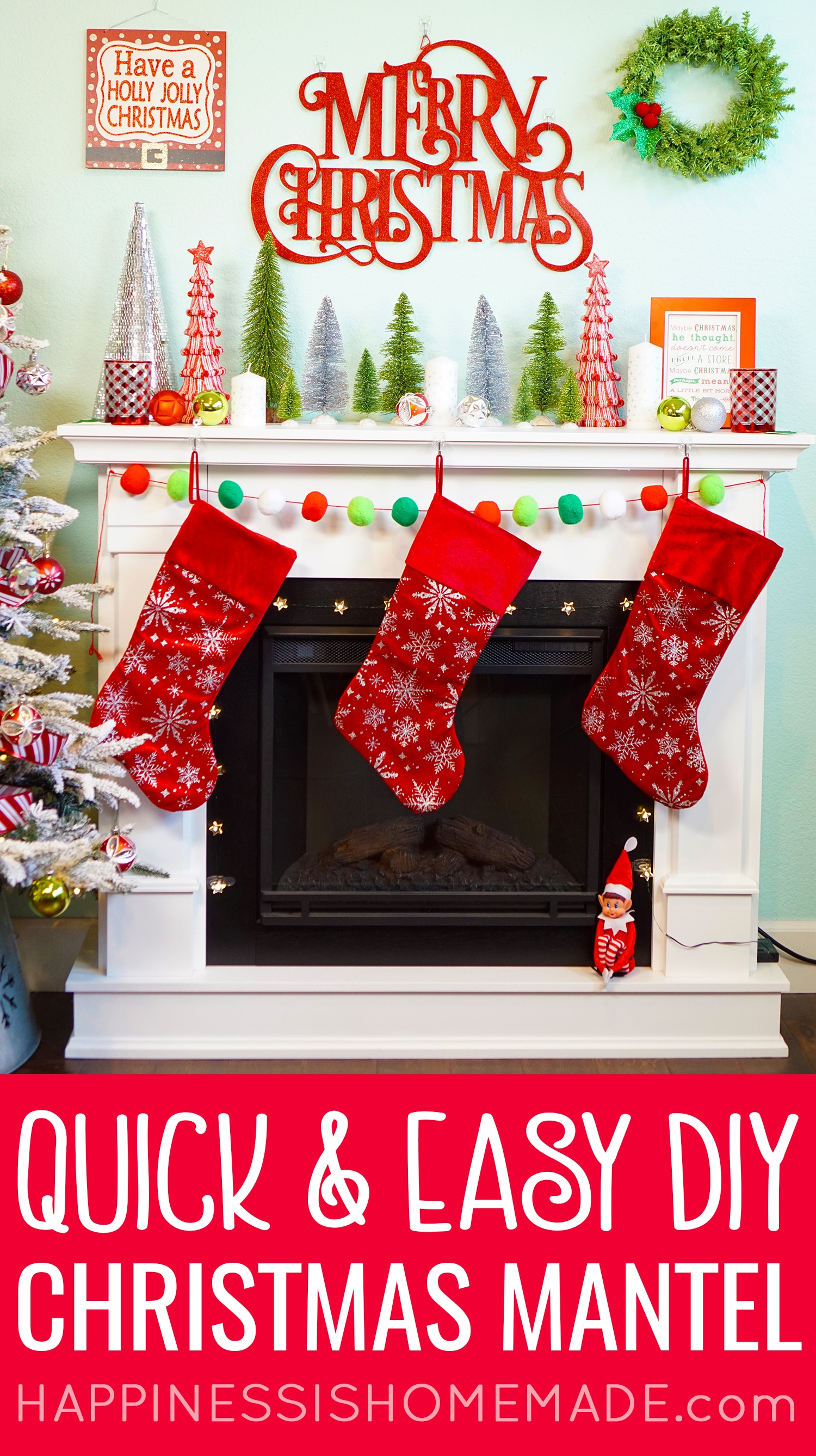 Easy Christmas Mantel Decor Ideas Happiness Is Homemade,House Of The Rising Sun Piano Chords Pdf
