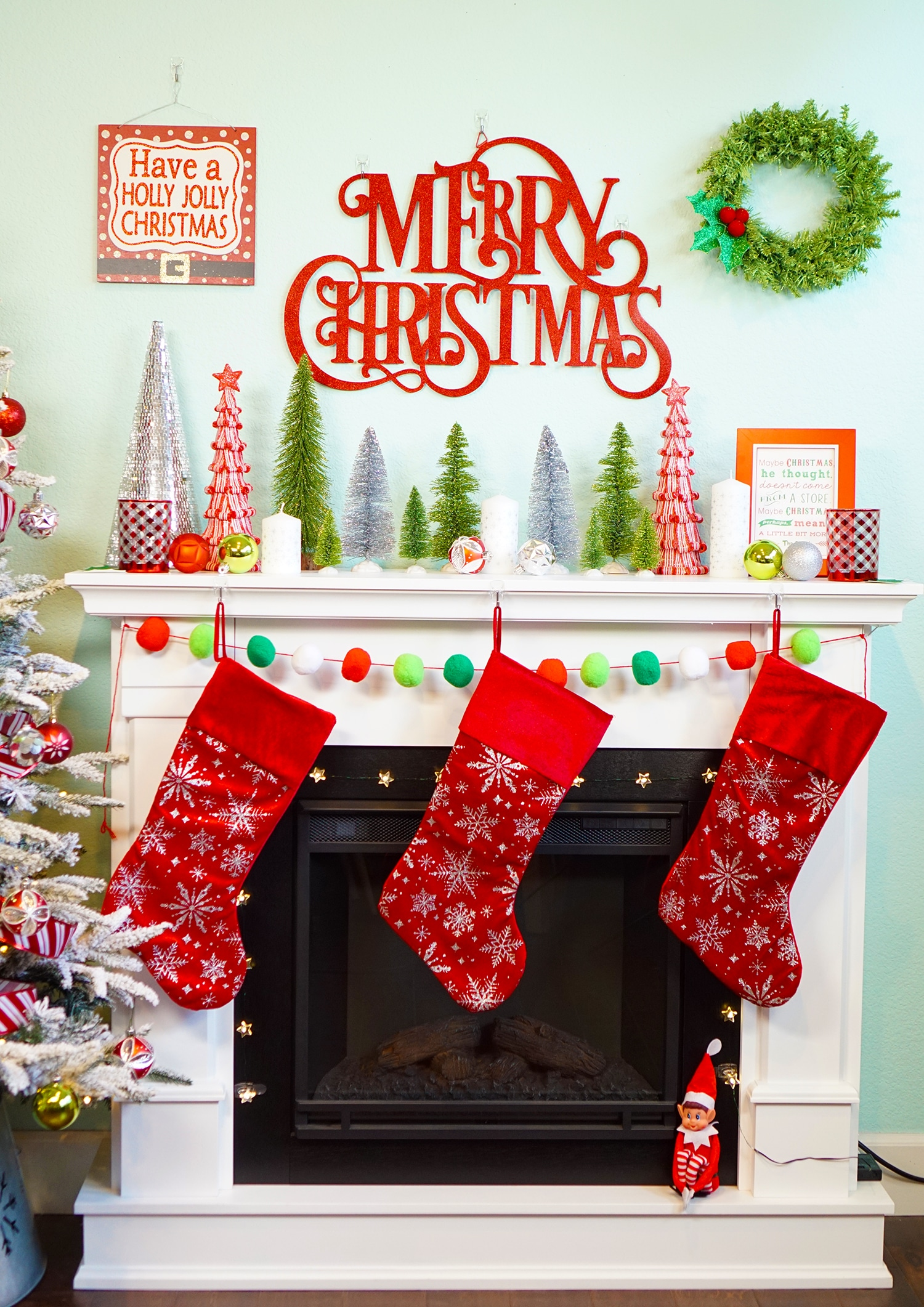 Easy Christmas Mantel Decor Ideas - Happiness is Homemade