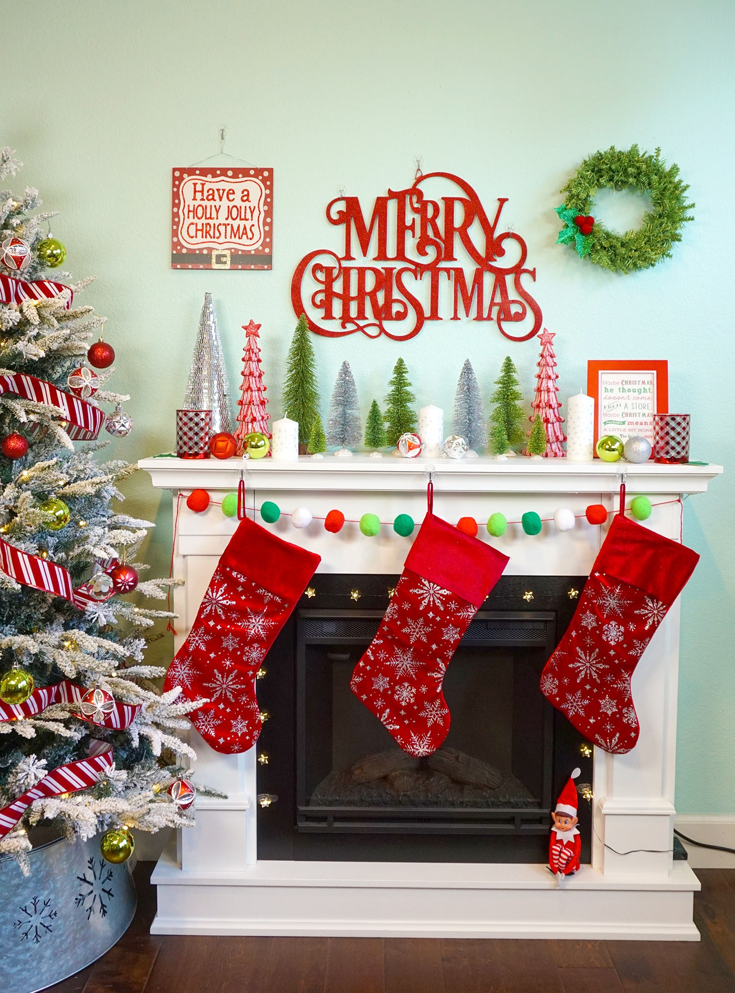Easy Christmas Mantel Decor Ideas Happiness is Homemade