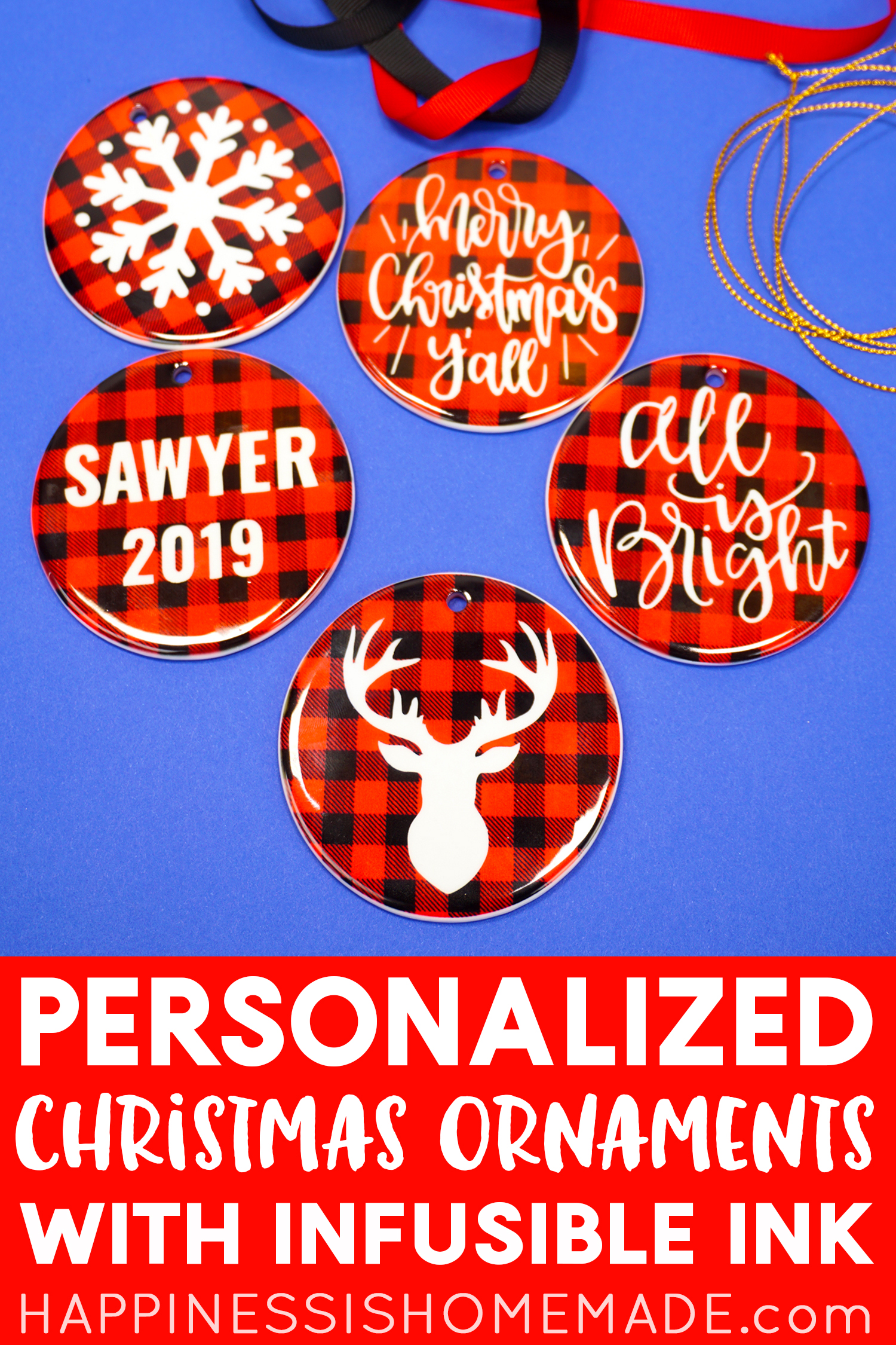 Personalized Christmas Ornaments With Infusible Ink