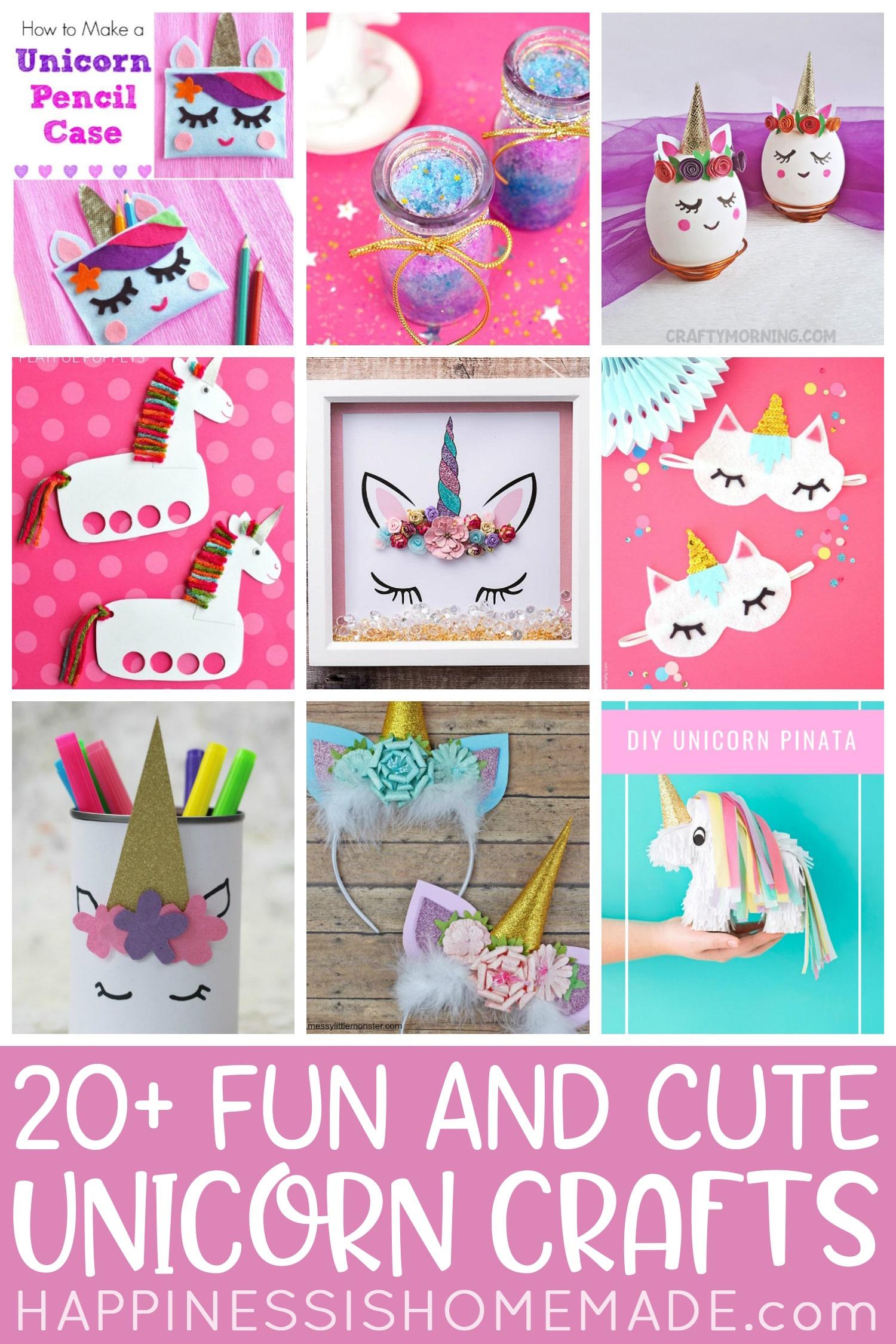 20+ Fun and Cute Unicorn Crafts