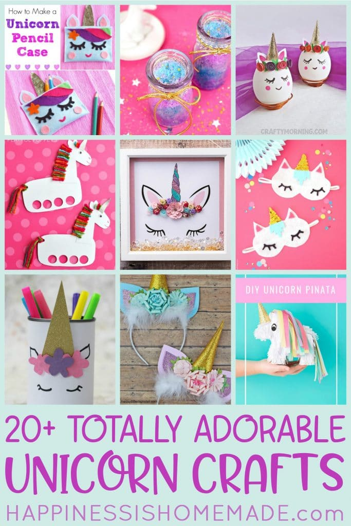 20+ Totally Adorable Unicorn Crafts