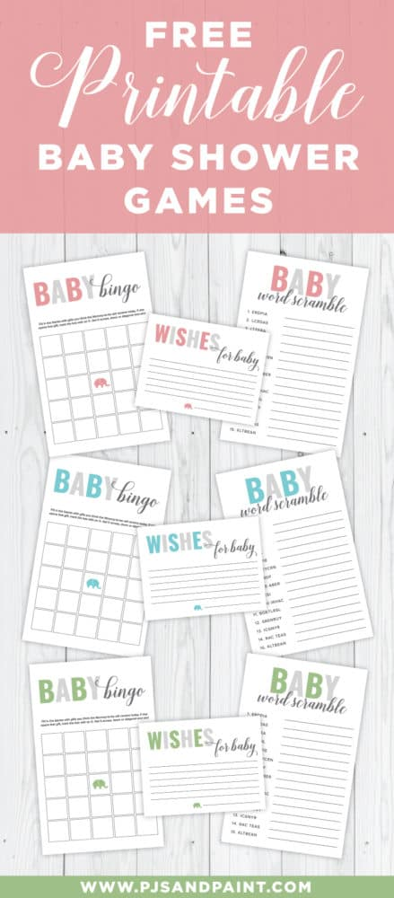 18 Printable Baby Shower Games Happiness is Homemade