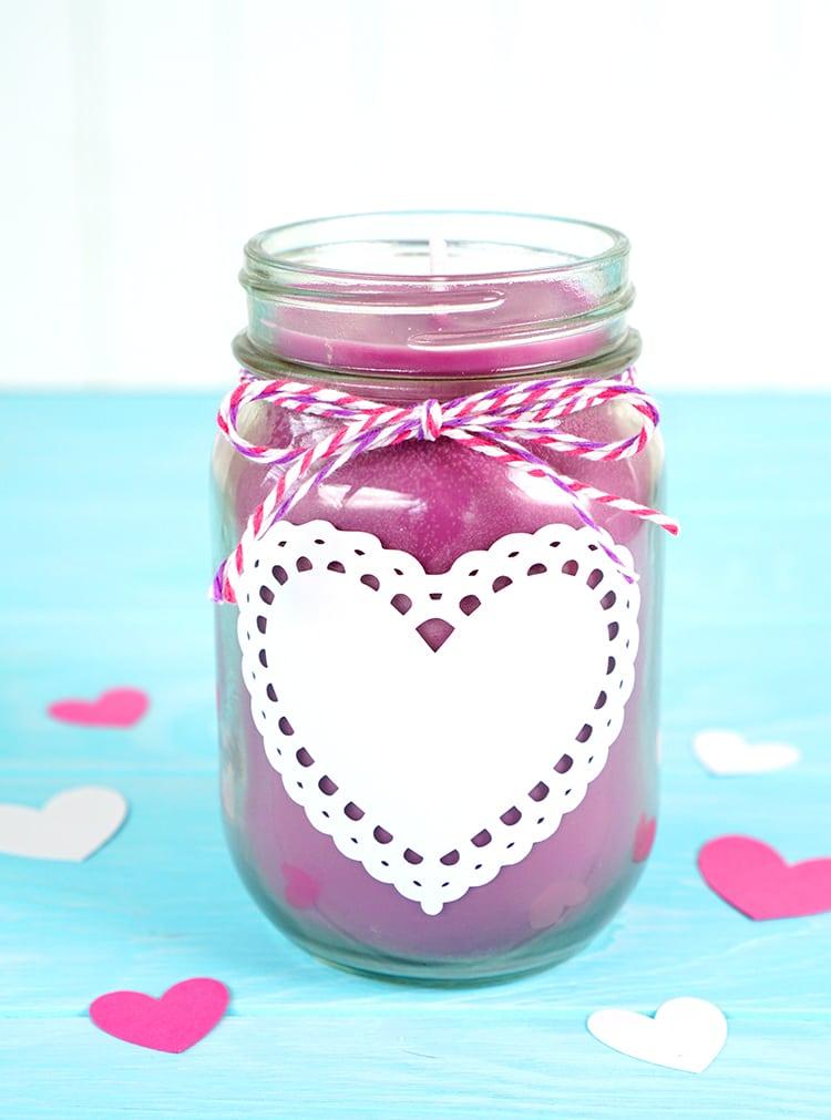 DIY Mason Jar Candles - Happiness is