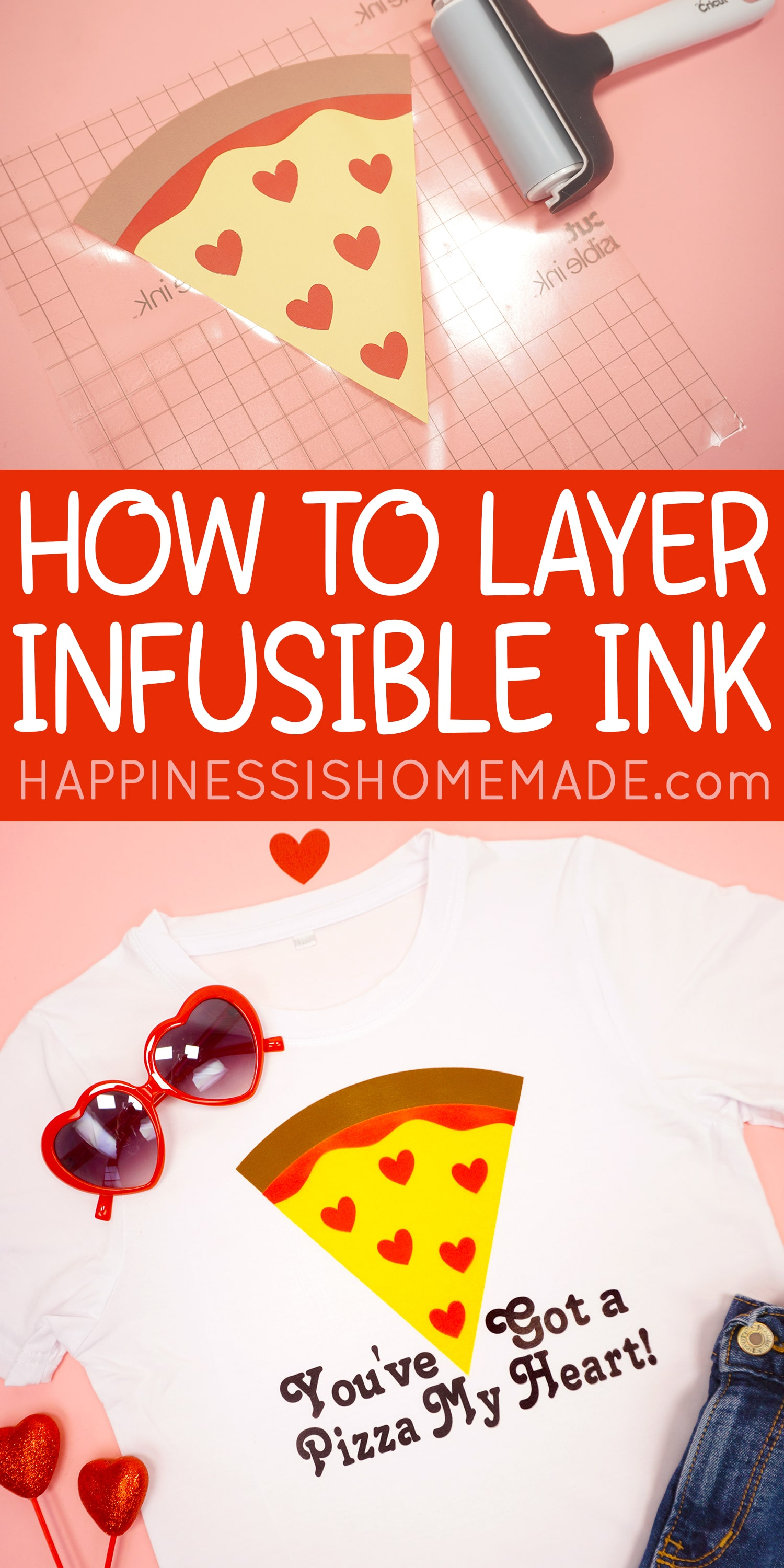 How to Layer Cricut Infusible Ink
