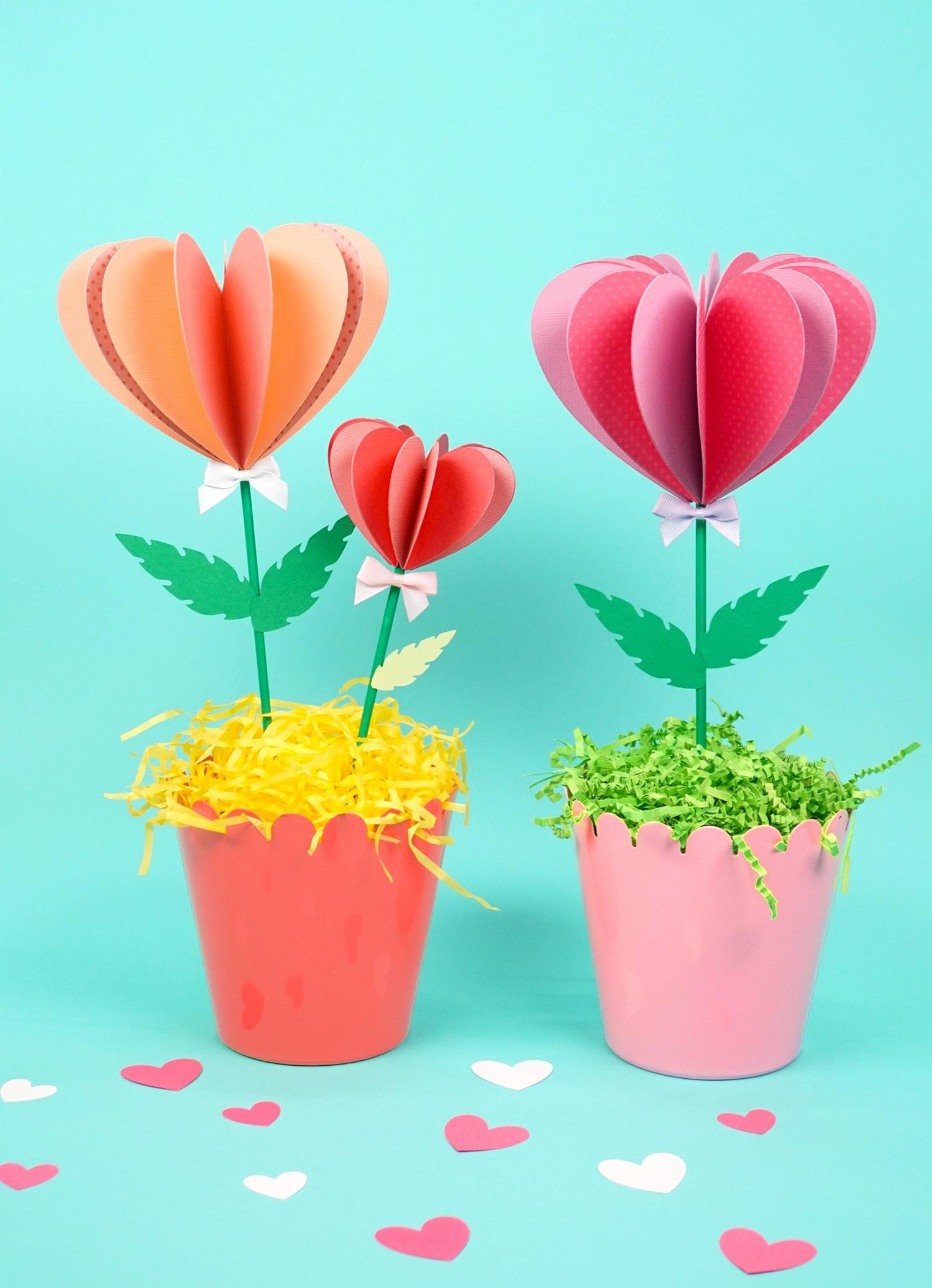 Origami Flower Pot & Stem Holder Tutorial - Paper Kawaii | 2075x1500