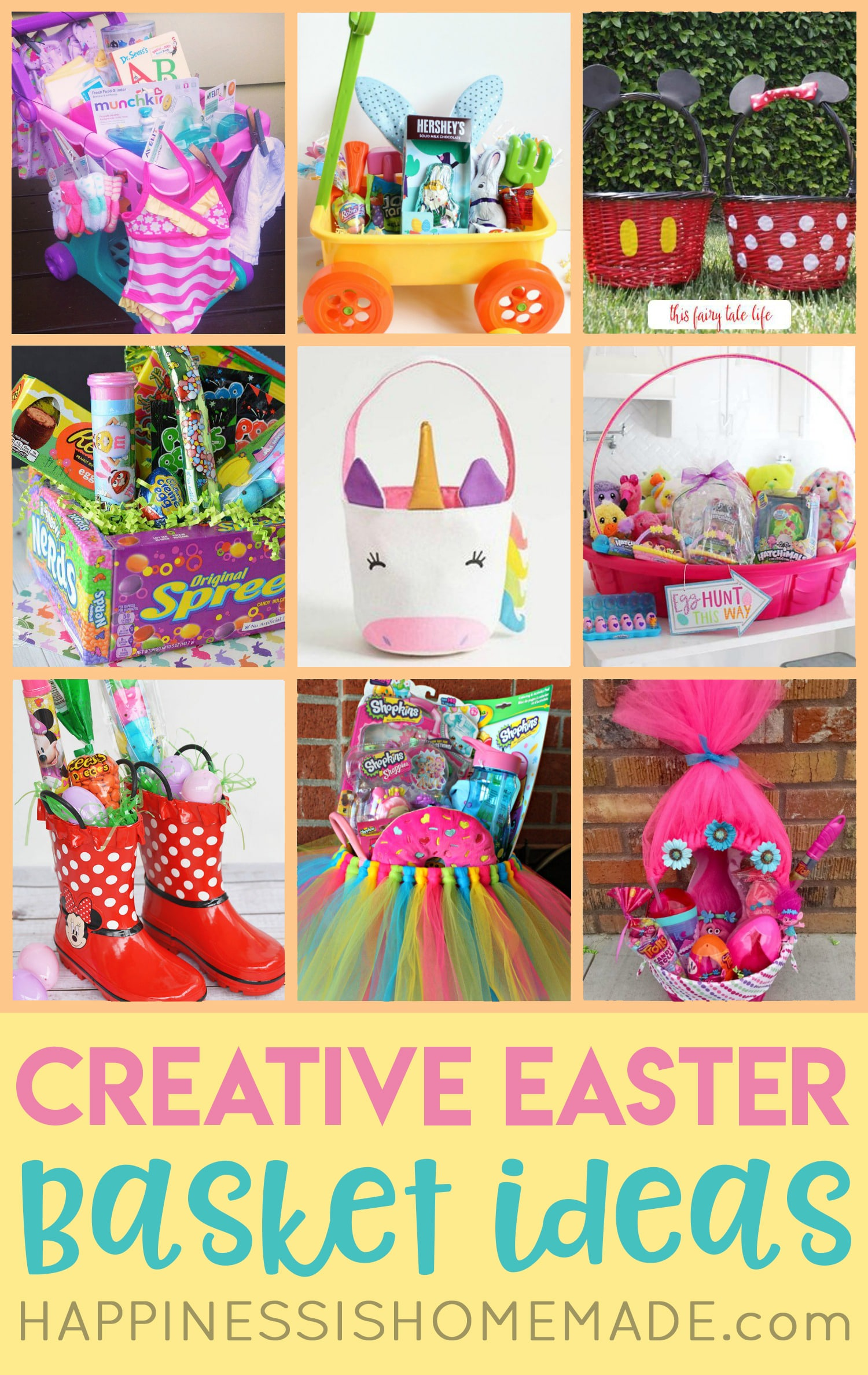 16 Creative Easter Basket Ideas Happiness Is Homemade