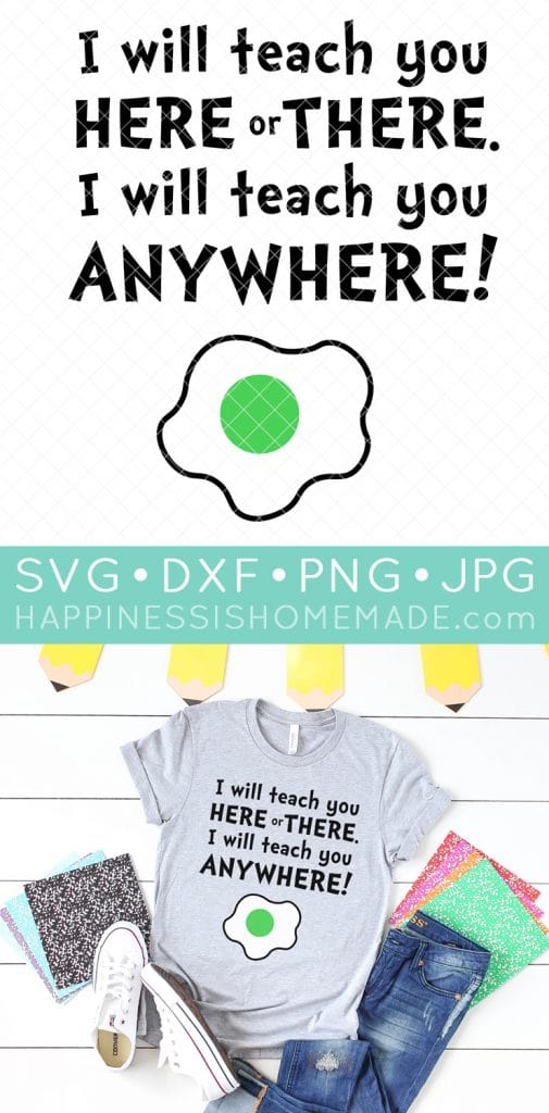 Dr Seuss Svg File For Teachers Happiness Is Homemade