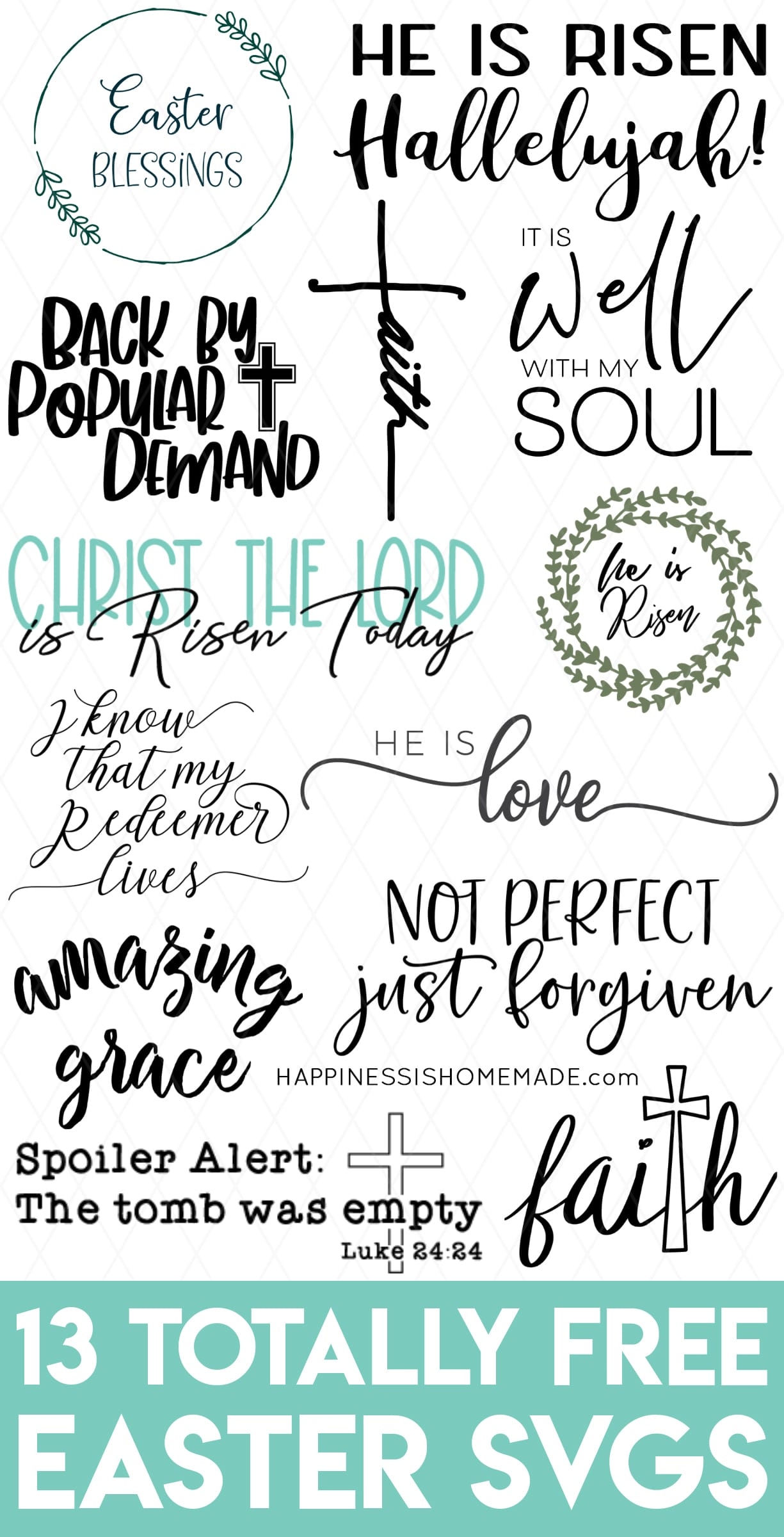 Download Free Religious Easter SVG Files for Cricut & Silhouette ...
