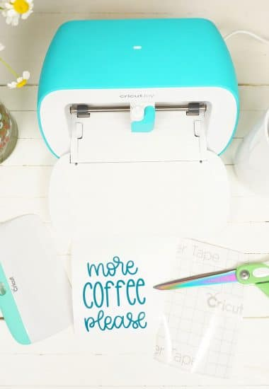 Cricut Joy machine and Smart Vinyl project