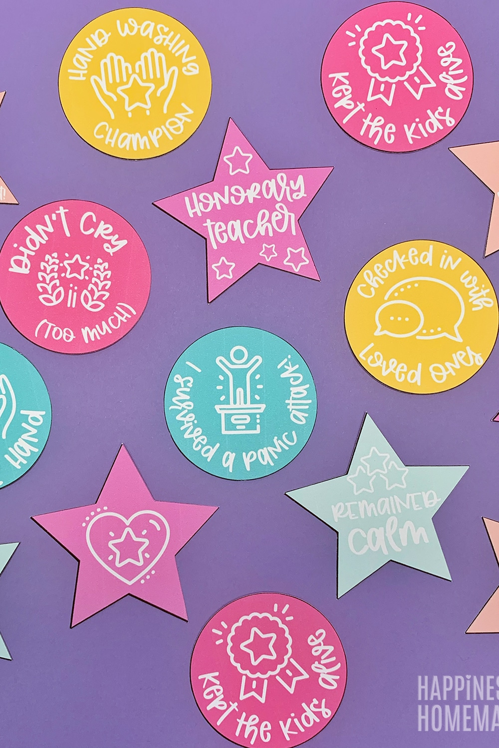 Free Printable Adult Reward Stickers Featured