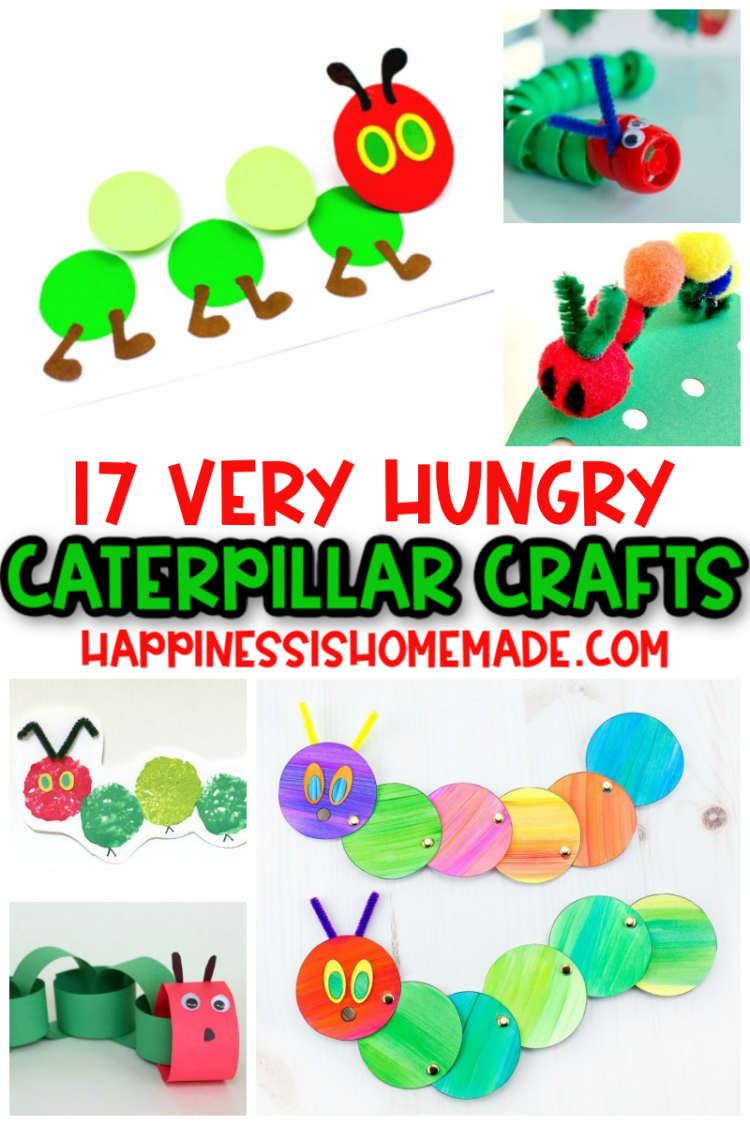 Very Hungry Caterpillar Crafts for preschool and toddlers