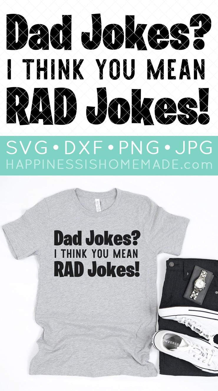 Dad Jokes SVG File and Shirt