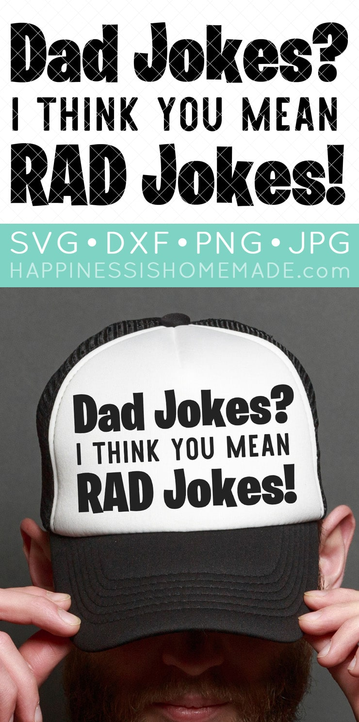 Dad Jokes SVG File and Hat