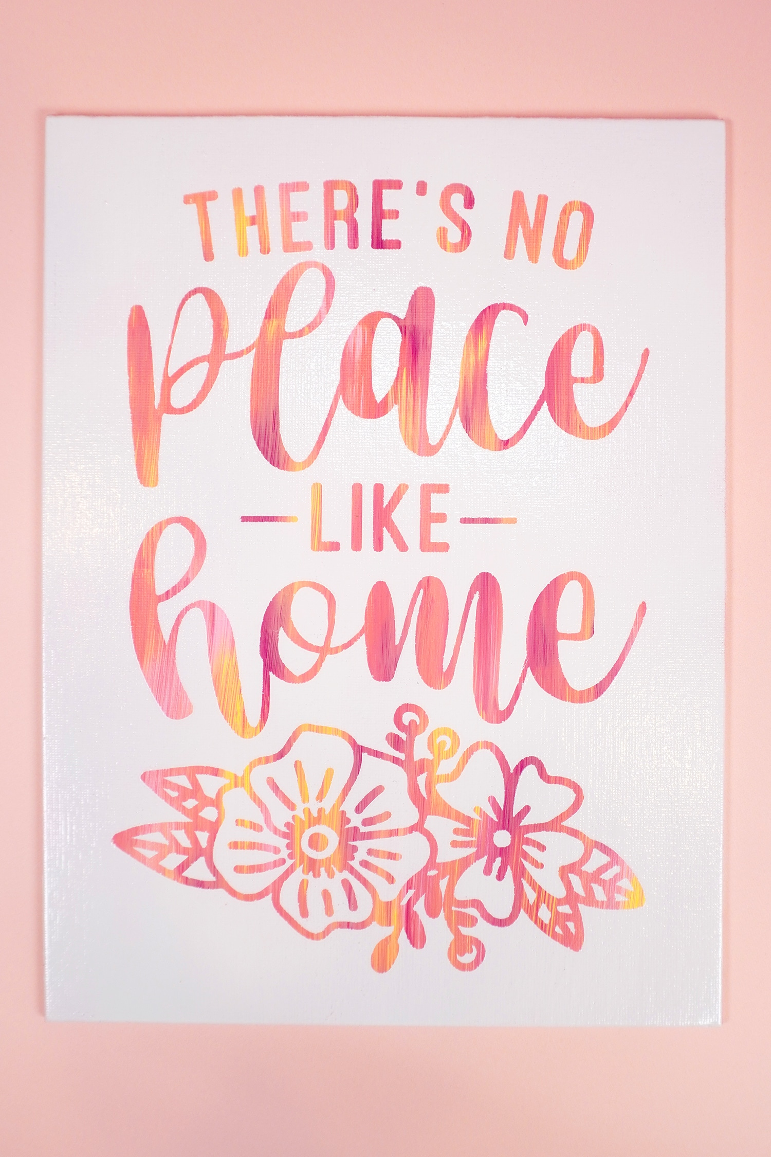 There's No Place Like Home Hot Mess Canvas with Sunset-Hued Quote