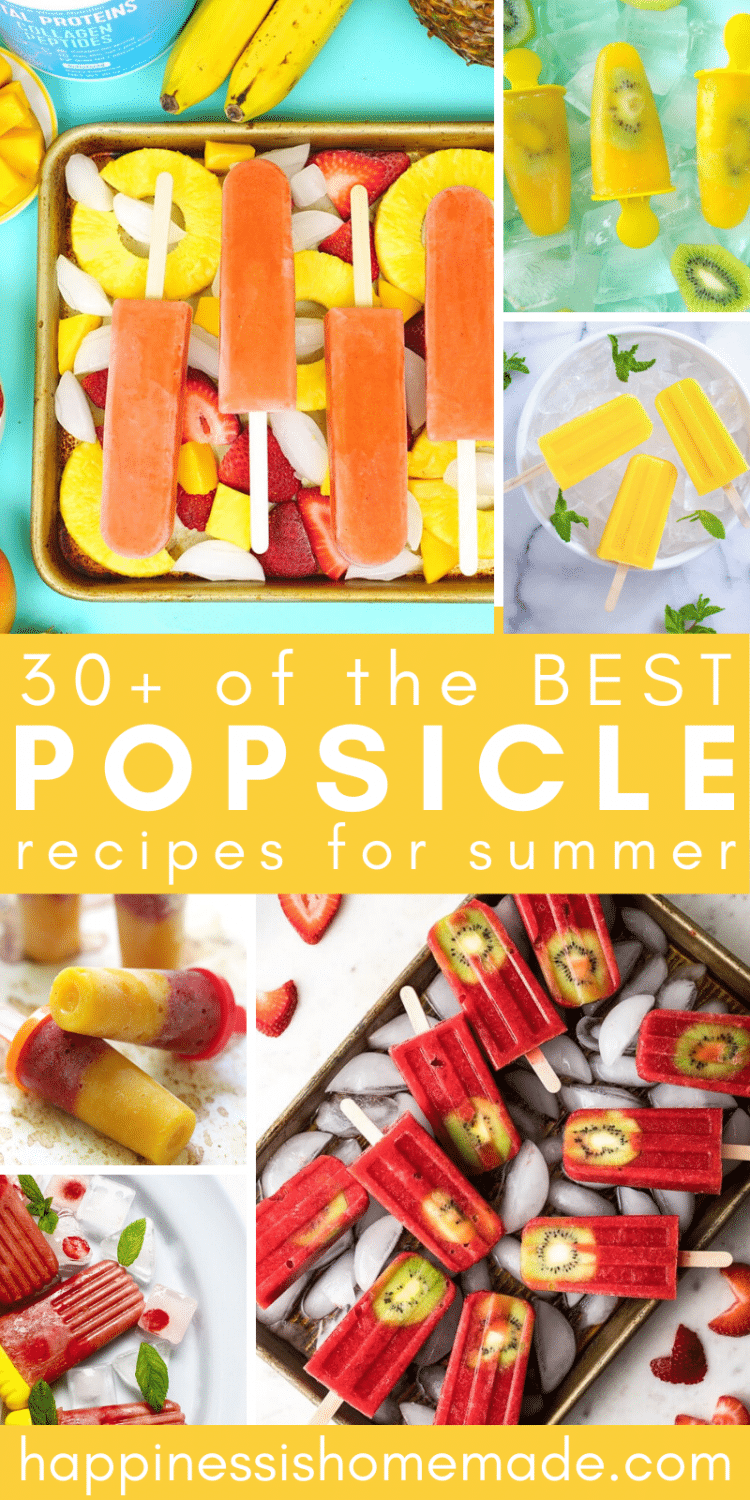 "collage of ""30 of the BEST Popsicle Recipes for Summer"""