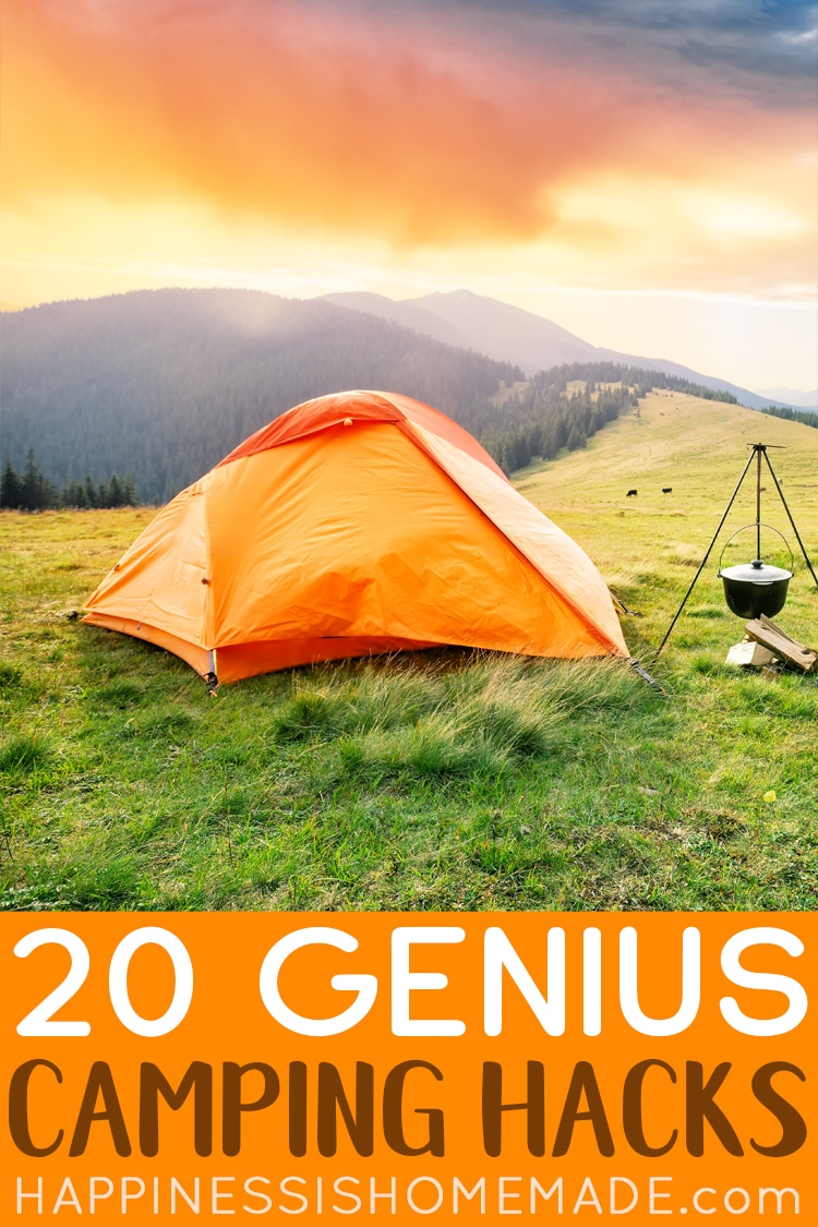 20 Genius Camping Hacks For Outdoor Living Happiness Is Homemade