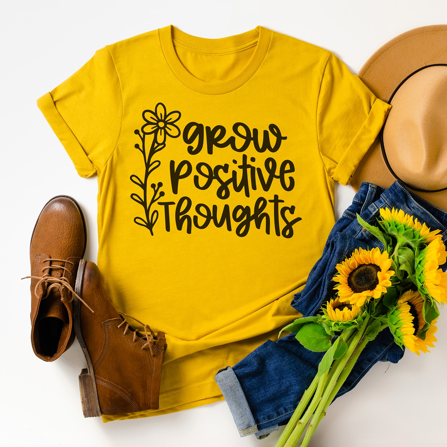 Grow Positive Thoughts SVG File
