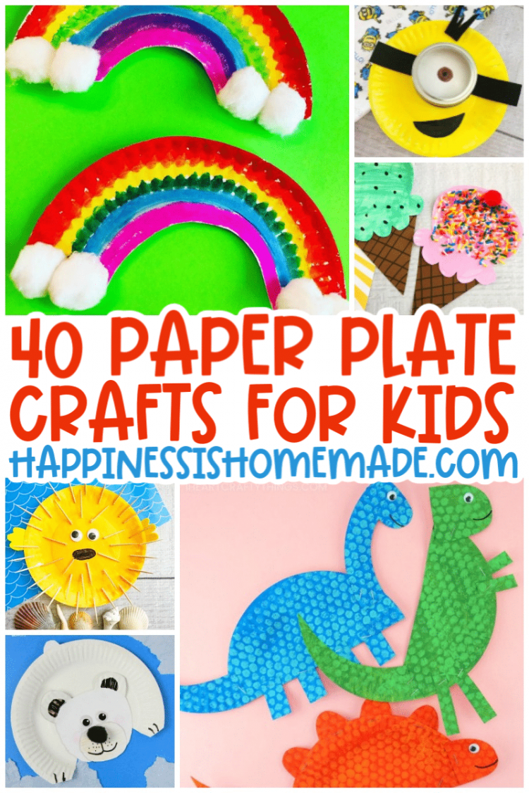 40 Paper Plate Crafts For Kids Happiness Is Homemade