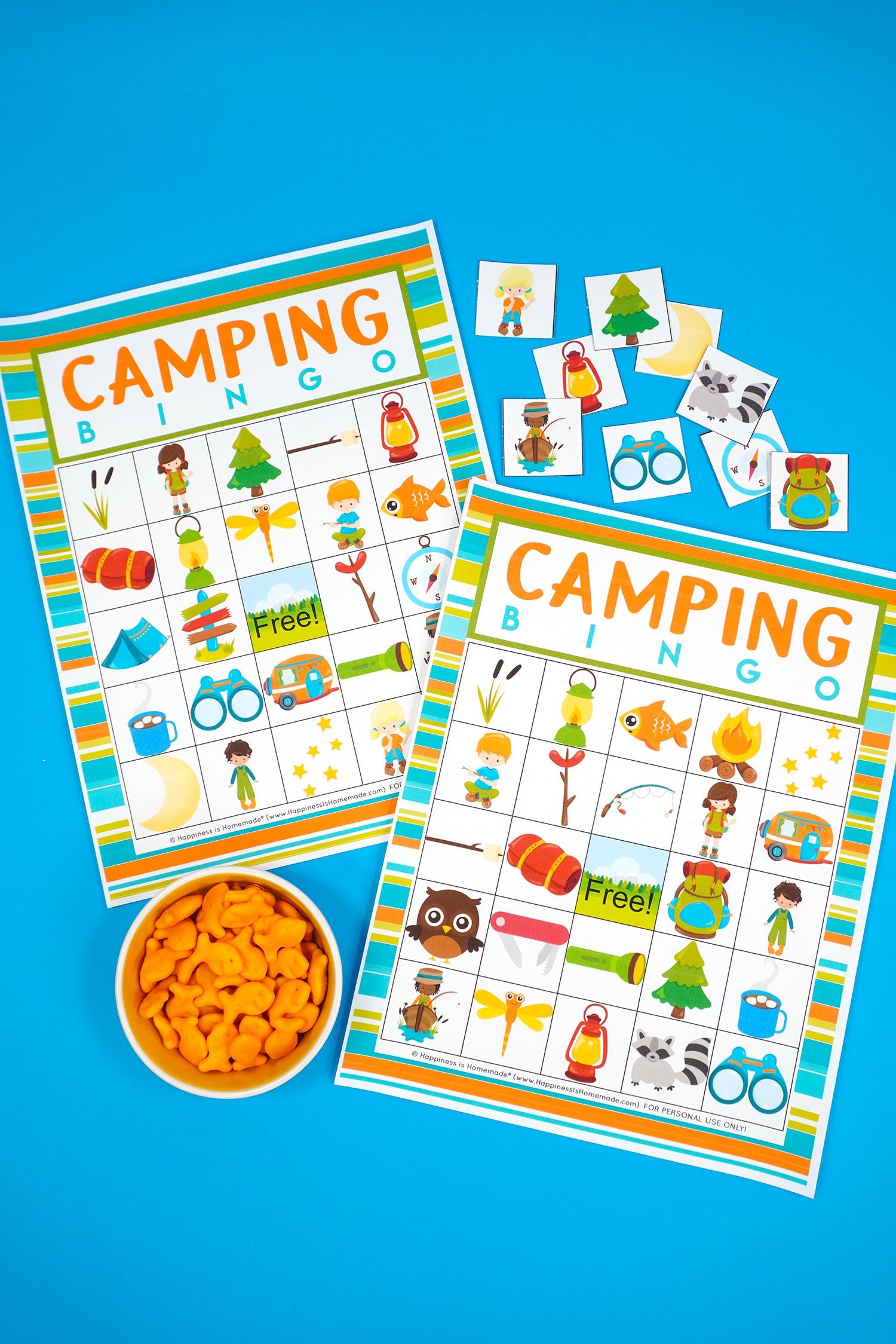 Printable Camping Bingo Game for Kids