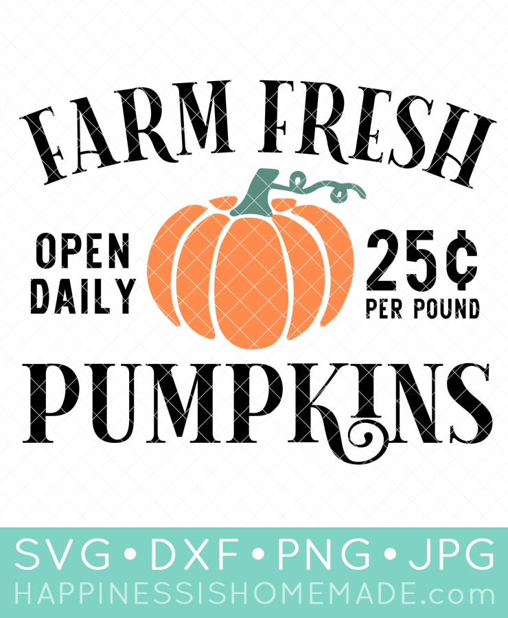 14 Free Pumpkin Svg Files Happiness Is Homemade