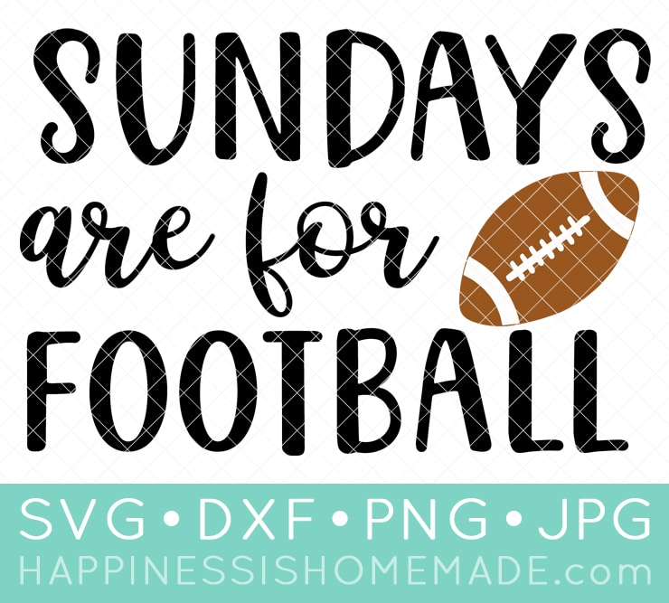 Sundays are for Football SVG File Graphic