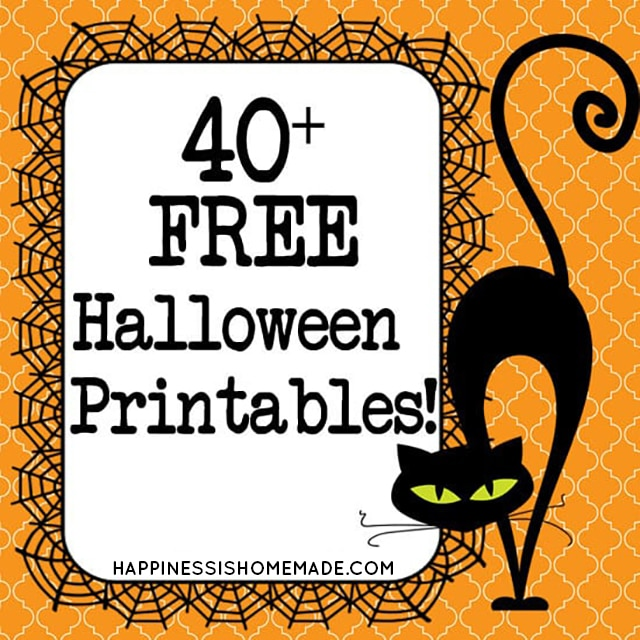 40 Free Halloween Printables Happiness Is Homemade