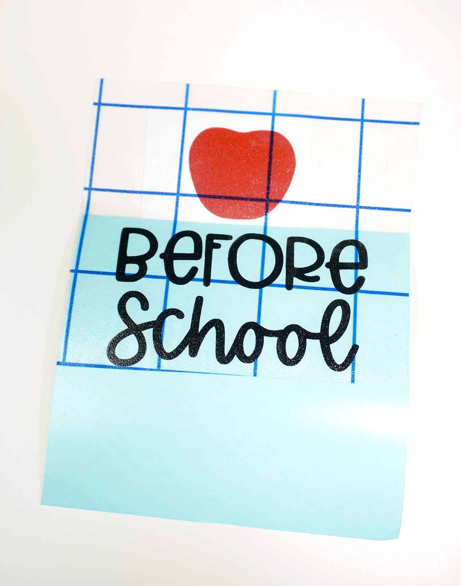Apple and before school vinyl designs on white background