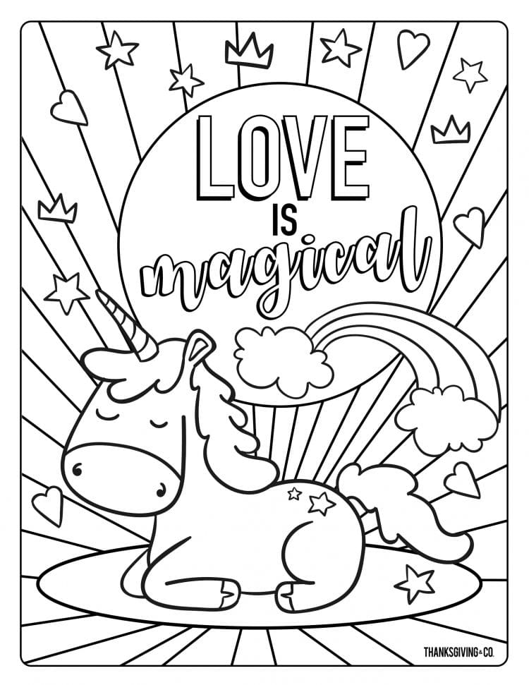 10+ Valentines Coloring Pages - Happiness is Homemade