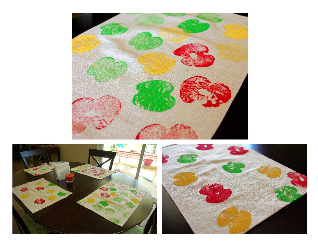 Apple Printed Placemats Happiness Is Homemade