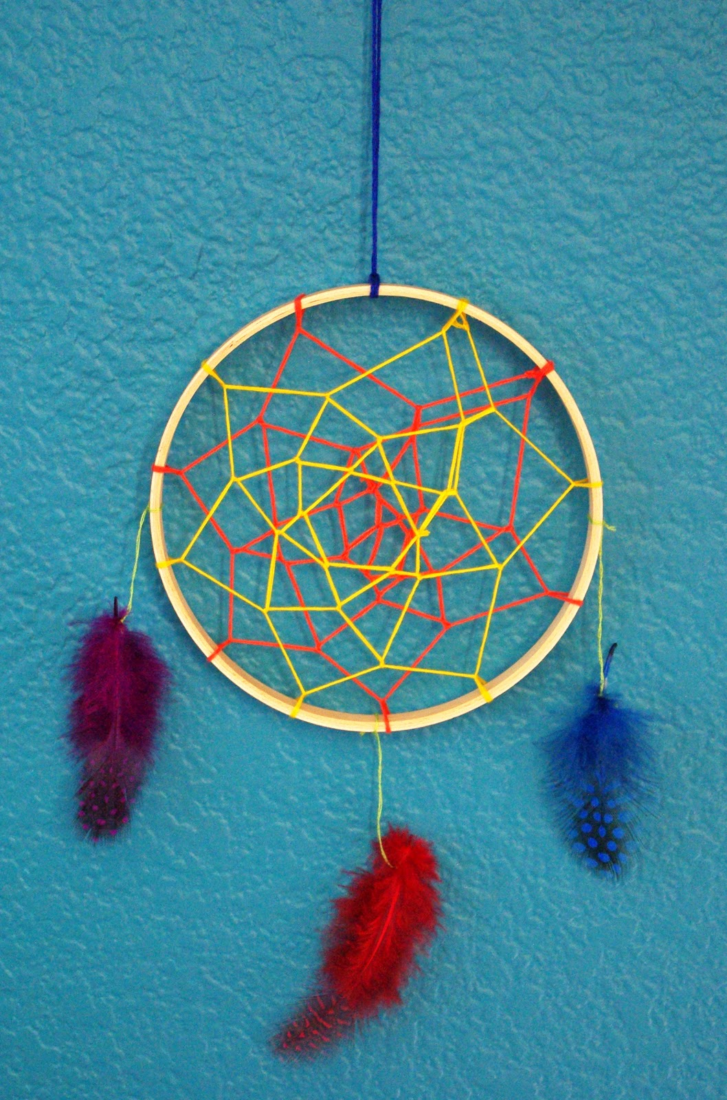 Dreamcatchers happiness is homemade for How to tie a dreamcatcher web