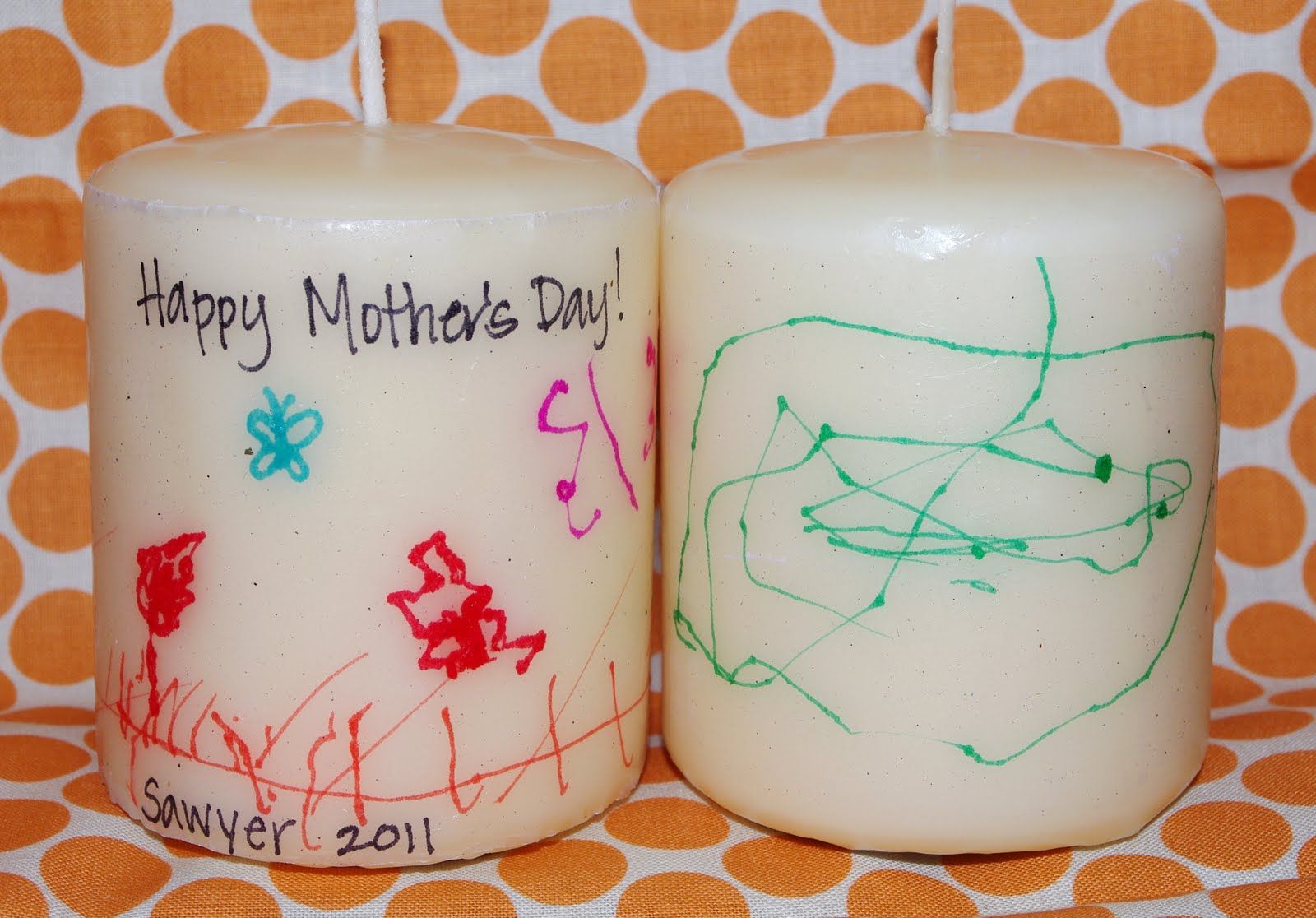 Last Minute Mother 39 S Day Gift Kids Artwork Candles