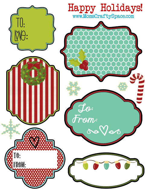 download the holiday tags here - Printable Christmas Name Tags