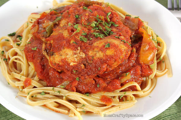 Easy Healthy Dinners: Crockpot Chicken Cacciatore - Happiness is ...