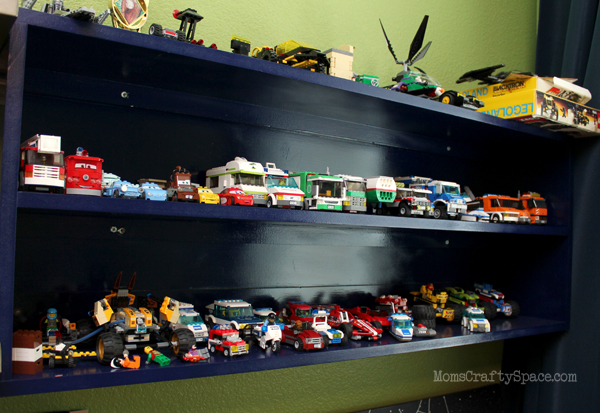 garage corner shelf ideas - Cheap & Easy LEGO Storage Organizer Happiness is Homemade