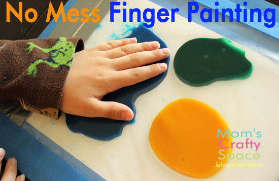 kids craft no mess finger painting   happiness is homemade