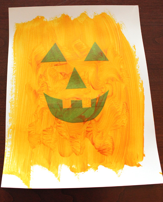 Easy Toddler Halloween Art Happiness Is Homemade