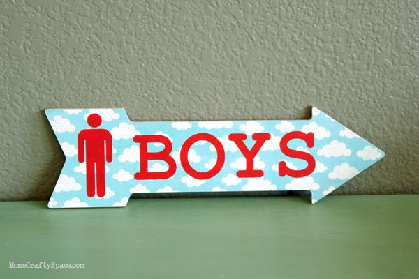 DIY Bathroom Door Signs