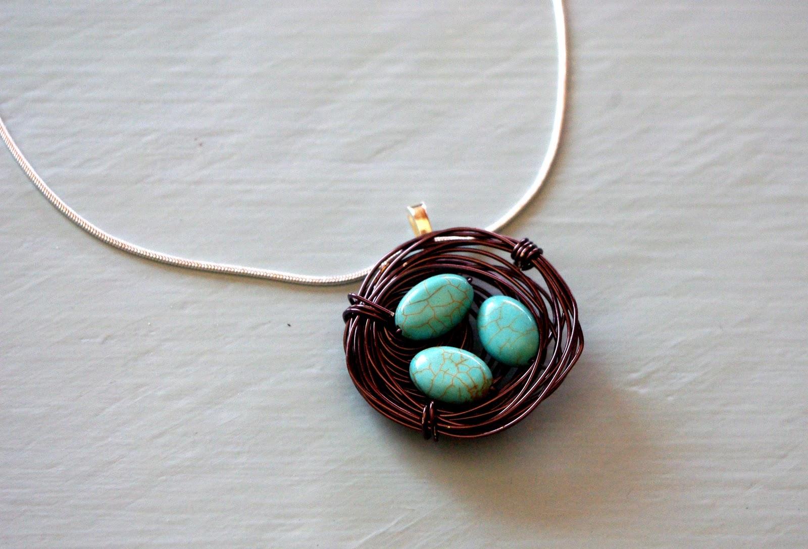 Bird nest necklace happiness is homemade bird nest necklace aloadofball Gallery
