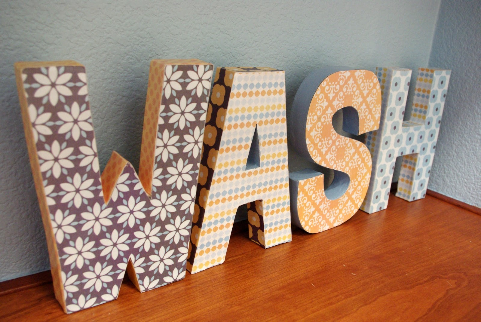 Print Candee} Paper Mache Letters - Happiness is Homemade