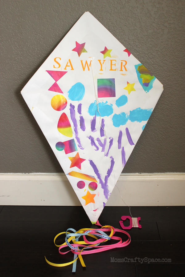 Kids Craft Diy Paper Kite Happiness Is Homemade