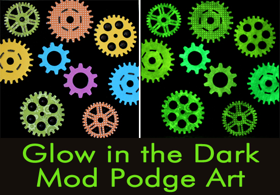 Glow In The Dark Mod Podge Art Happiness Is Homemade