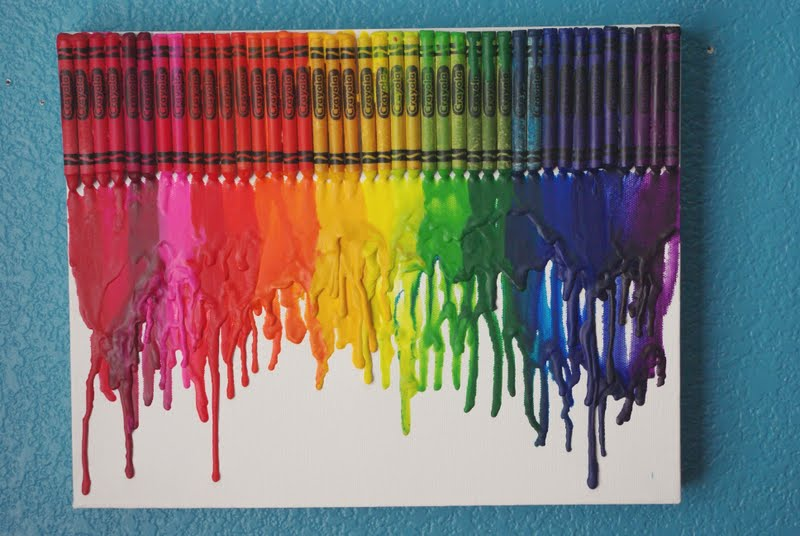 Melted Crayon Art Happiness Is Homemade