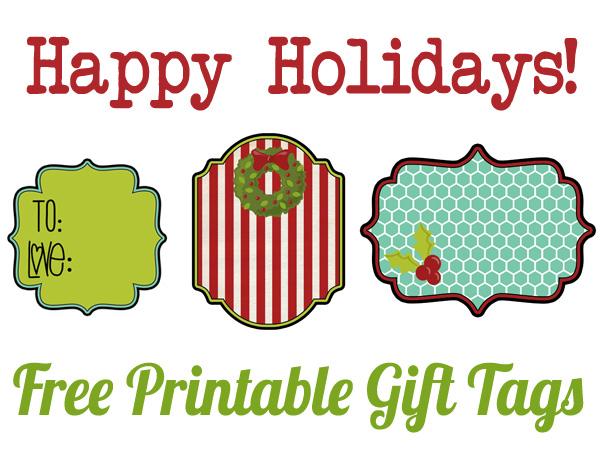 Christmas free printable gift tags