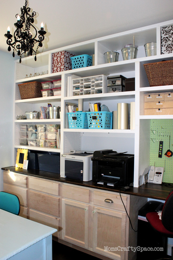 Craft Room Reveal Mostly Finished Happiness Is Homemade