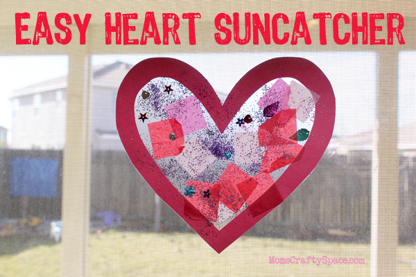 toddler time simple valentine s day heart suncatcher happiness is