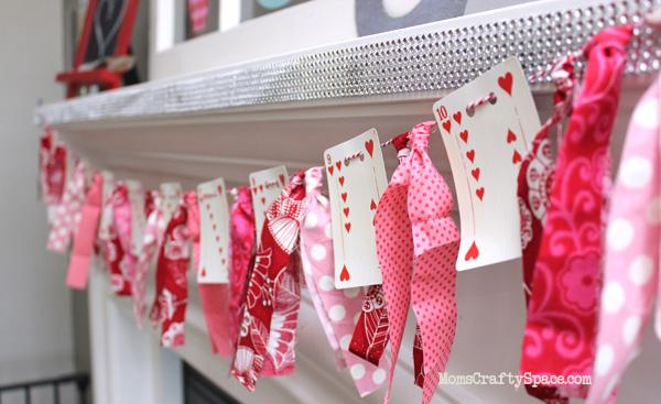 valentines day heart cards garland