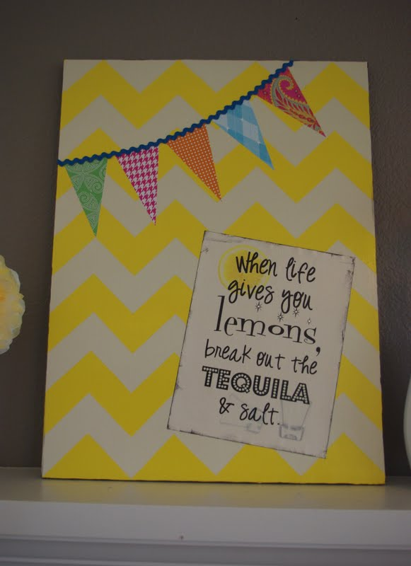 Chevron Canvas & Printable {Tutorial} - Happiness is Homemade