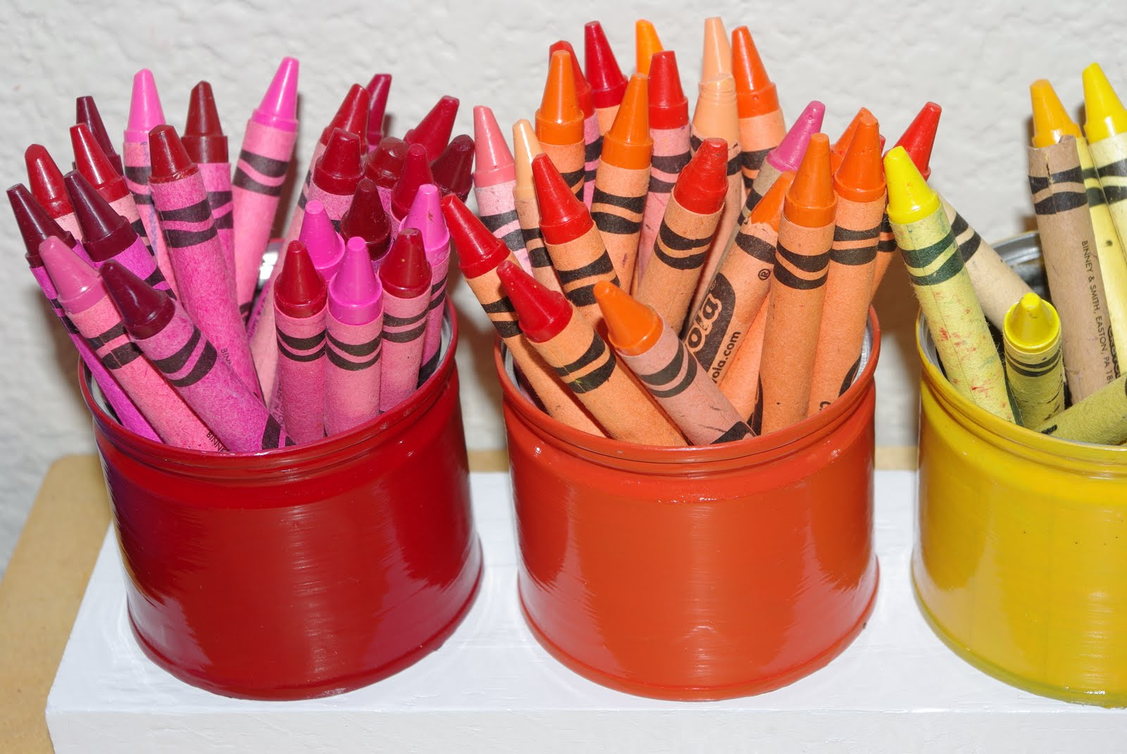 upcycled montessori style crayon holder tutorial happiness is